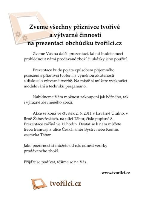 Tvořílci.cz - pozvánka