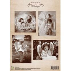 Nellie Vintage A4 - modlící se andílci