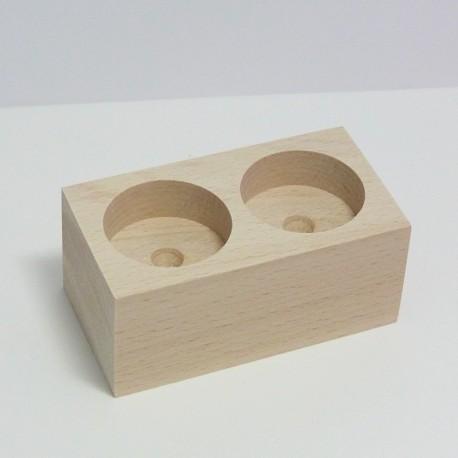 Dřevěný svícen 2v1 na čajové svíčky