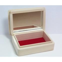 Krabička se zrcadlem a sametem 15x10