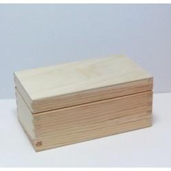 Dřevěná krabička na čaj - 2 komory, rovné víko