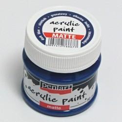 Akrylová barva Pentart 50ml - tmavě modrá, matná