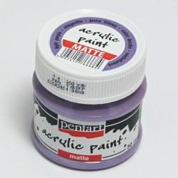 Akrylová barva Pentart 50ml - světle fialová, matná (1308)