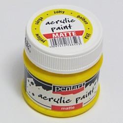 Akrylová barva Pentart 50ml - žlutá, matná