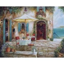 Reprodukce obrazu 20x25 - dům s terasou u moře