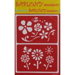 Šablony samolepící - květiny, 2ks