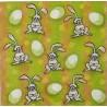 Zajíčci zelenožlutý 33x33