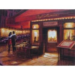 Reprodukce obrazu 21x16 - Cafe Lumiere