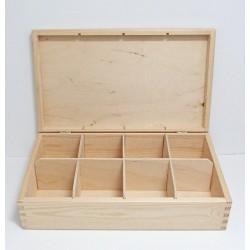 Krabička na čaj 8 komor (bez zámečku)