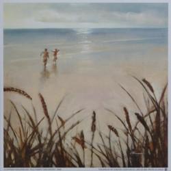 Reprodukce obrazu 18x18 - Na pláži