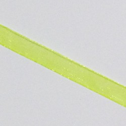 Stuha šifónová 6mm - reflexní žlutá