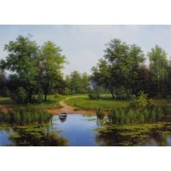 Reprodukce obrazu 18x13 - U jezera