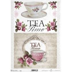 Papír rýžový A4 Tea Time a růže