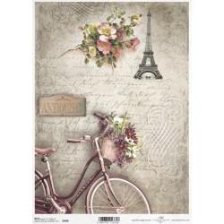Papír rýžový A4 Jízdní kolo, Eiffelovka