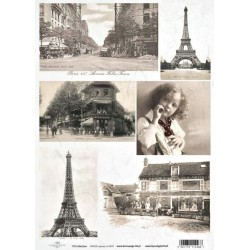 Papír rýžový A4 Paris Vintage