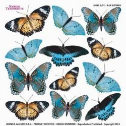 Sospeso folie 24x24 - modří motýli