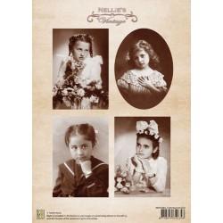 Nellie Vintage A4 - svaté přijímání, dívky