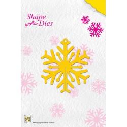 Vyřezávací šablona - Vločka ke skládání Shape Dies