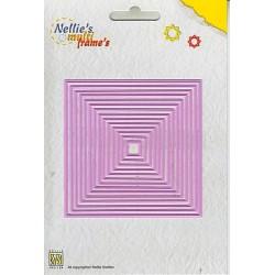 Vyřezávací šablona - čtverce 14ks Nellie´s Multi Frame´s
