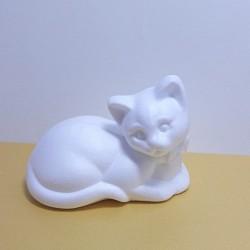 Polystyrenová kočka ležící 13cm