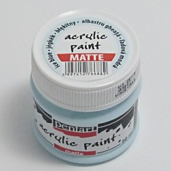 Akrylová barva Pentart 50ml - ledově modrá, matná