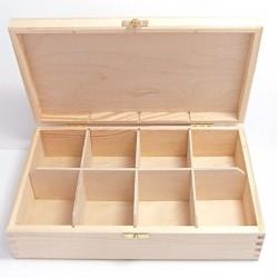 Krabička na čaj 8 komor (se zámečkem)