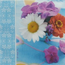 Květinky a bordura 33x33