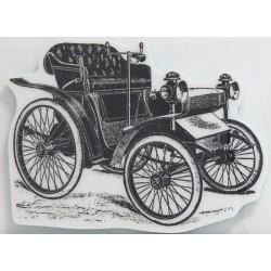 Razítko na pěnovce - Retro auto 13x9,5cm