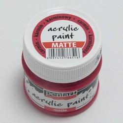 Akrylová barva Pentart 50ml - karmínová, matná