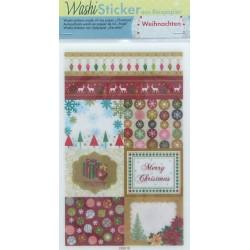 Washi samolepky Vánoční set, 10ks