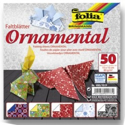 Origami papírky 15x15 Ornamental