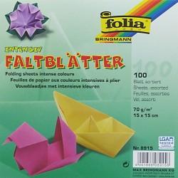 Origami papírky 15x15 mix barev