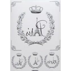 Papír pro transfér 1ks - Paris, koruna