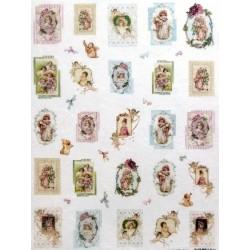 Papír rýžový mini 33x24 Obrázky s dětmi a andílky