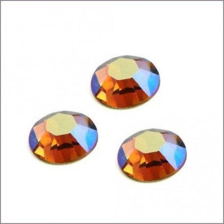 Swarovski štrasové kamínky 3mm - topaz aurore boreale, 10ks