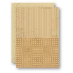 Papír na pozadí A4 - béžový s proužky
