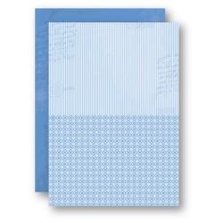 Papír na pozadí A4 - světle modrý s proužky