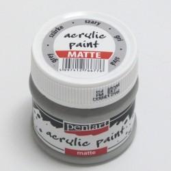 Akrylová barva Pentart 50ml - šedá, matná
