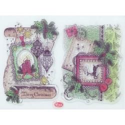 Razítka D90 Merry Christmas, Post Card