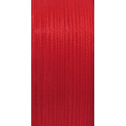 Stužka šifónová 3mm červená, metr