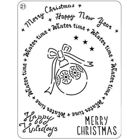 Mřížka Mini grid č.17 - Veselé Vánoce č.21