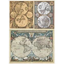 Papír rýžový A4 Historické mapy světa