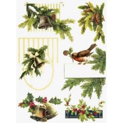 Papír rýžový A4 Vánoční zvonky
