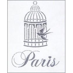 Šablona - Paris a ptačí klec, vel. A5