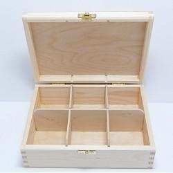 Krabička na čaj 6 komor (se zámečkem)