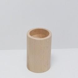 Dřevěný svícen střední (kulatý)