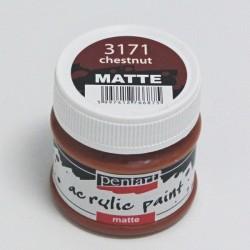 Akrylová barva Pentart 50ml - kaštanová, matná