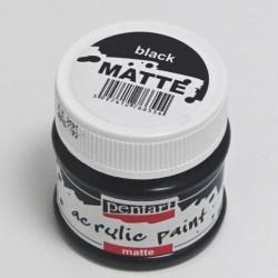 Akrylová barva Pentart 50ml - černá, matná