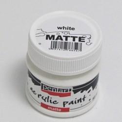 Akrylová barva Pentart 50ml - bílá, matná