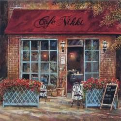 Reprodukce obrazu 20x20 - Cafe Nikki